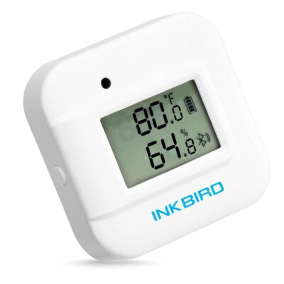Inkbird Smart Thermometer Temperature and Humidity Monitor Hygrometer Indoor, Free APP for iOS and Android, IBS-TH2 Plus Version Supports External Temperature Probe and Digital Display