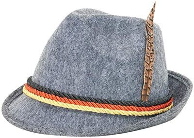 ZLIXING Oktoberfest Hat German Alpine Bavarian Costumes Hat Women Men Oktoberfest Decorations Party Supplies