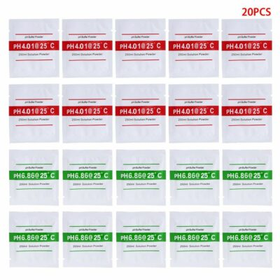 20 Pack pH Calibration Solution Packets 6.86/4.01 for Accurate and Easy Calibration of pH Meter, pH Standard Buffer Powder Solution