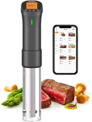 Sous -Vide Cooker, Inkbird WiFi Sous Vide Culinary Precision Cooker | 1000W Immersion Circulator with Recipes,Timer | Ultra-Quiet : ISV-200W Sous Vide Machine
