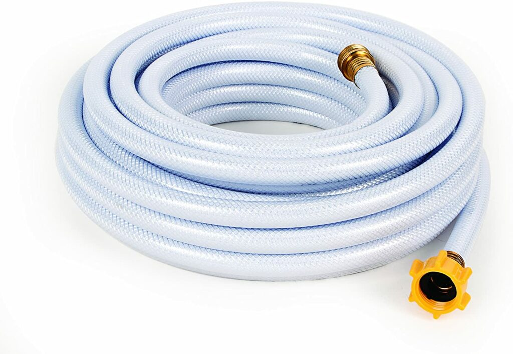 """Camco 50ft TastePURE Drinking Water Hose - Lead and BPA Free, Reinforced for Maximum Kink Resistance 1/2""""Inner Diameter (22753)"""