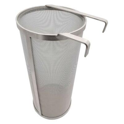 "Hop Hopper Spider Strainer Basket Filter for Homebrew Hops Beer & Tea Brewing Bucket Fermenter Kettle, 304 Stainless Steel 300 Micron Mesh - 4"" x 10"""