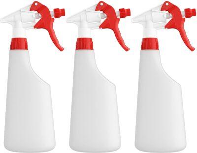 Homestead Choice Plastic Spray Bottles 22oz Leak Proof with Commercial Grade Trigger Sprayer - 3 Pack