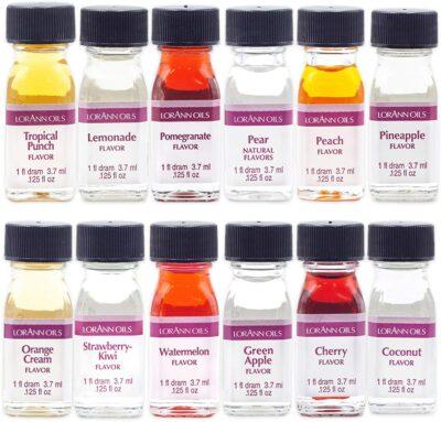 LorAnn SS Pack #2 of 12 Fruity & more Flavors in 1 dram bottles (.0125 fl oz - 3.7ml) bottles
