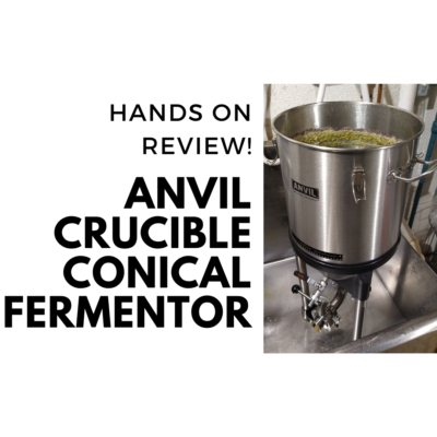 anvil brewing equipment crucible conical review