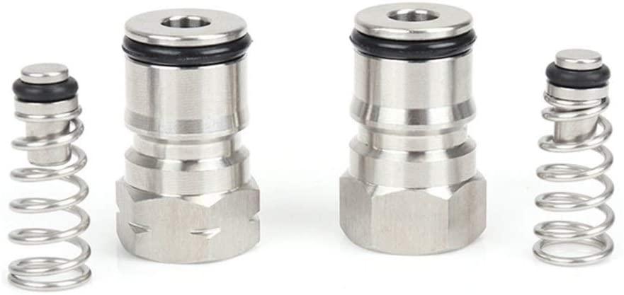 "Driak 19/32""-18 Thread Cornelius Type Ball Lock Keg Fittings Poppet fit Ball Lock Keg Post Liquid & Gas,Keg Seal Replacement Kit o-ring"