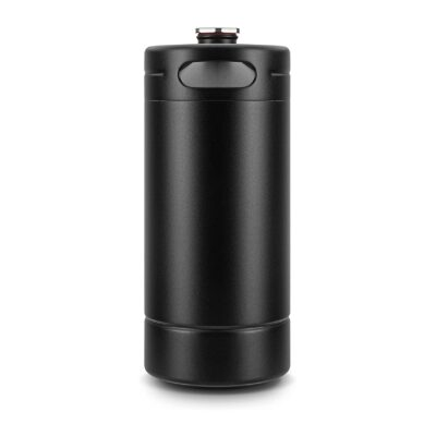 128OZ Mini Keg Growler, Stainless Steel Home Keg with No Scratch Matte Black Powder Coated to Keeping Fresh for Homebrew, Craft and Draft Beer