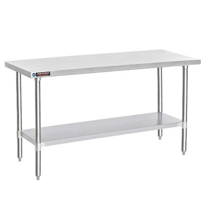 """DuraSteel Stainless Steel Work Table 30"""" x 72"""" x 34"""" Height - Food Prep Commercial Grade Worktable - NSF Certified - Fits for use in Restaurant, Business, Warehouse, Home, Kitchen, Garage"""
