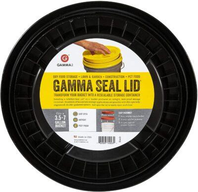 Gamma2 Gamma Seal Lid - Pet Food Storage Container Lids - Fits 3.5, 5, 6, & 7 Gallon Buckets