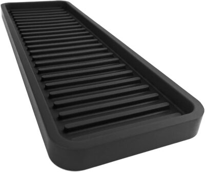 """Happitasa Silicone Kitchen Sink Organizer Tray, Sponge Holder and Countertop Protector 