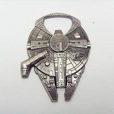 "Star Wars Millenium Falcon Metal Bottle Opener Zinc Alloy - Non-magnetic Opener 2.4"" Version"
