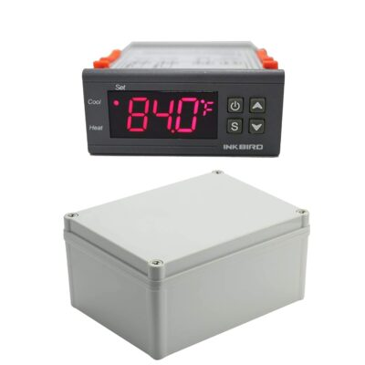 Inkbird All-Purpose Digital Temperature Controller Fahrenheit and Centigrade Thermostat with Sensor 2 Relays ITC-1000 for Refrigerator Fermenter with Junction Box