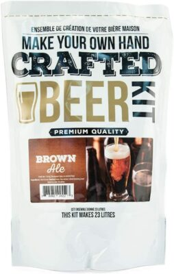 ABC Crafted Series Beer Making Kit | Beer Making Ingredients for Home Brewing | Yields 6 Gallons of Beer | (Brown Ale)