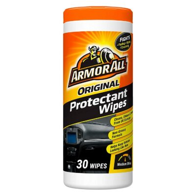 Armor All Original Protectant Wipes, Car Interior Cleaner with UV Protection to Fight Cracking & Fading, Medium Shine, 30 Count, 17496C